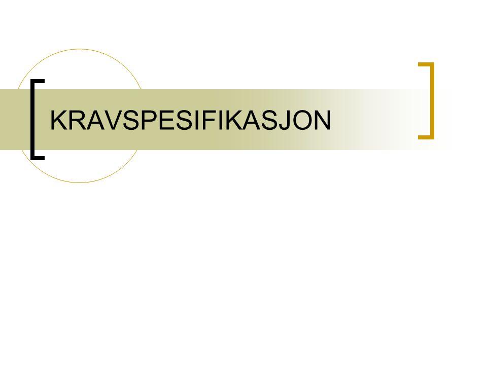 KRAVSPESIFIKASJON