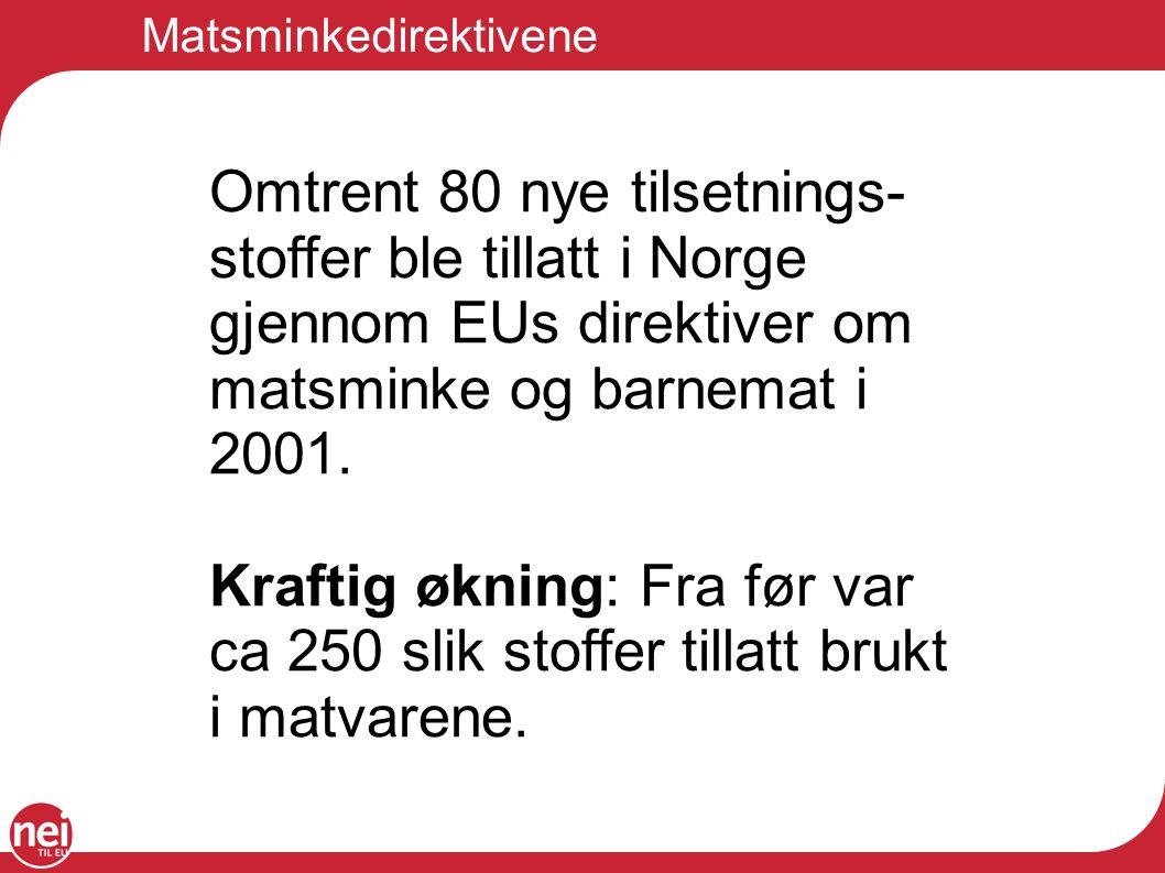 Matsminkedirektivene
