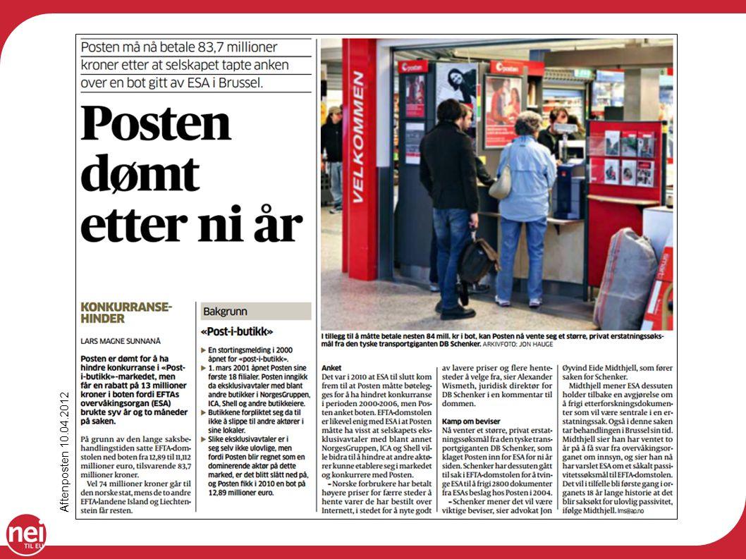 Aftenposten 10.04.2012