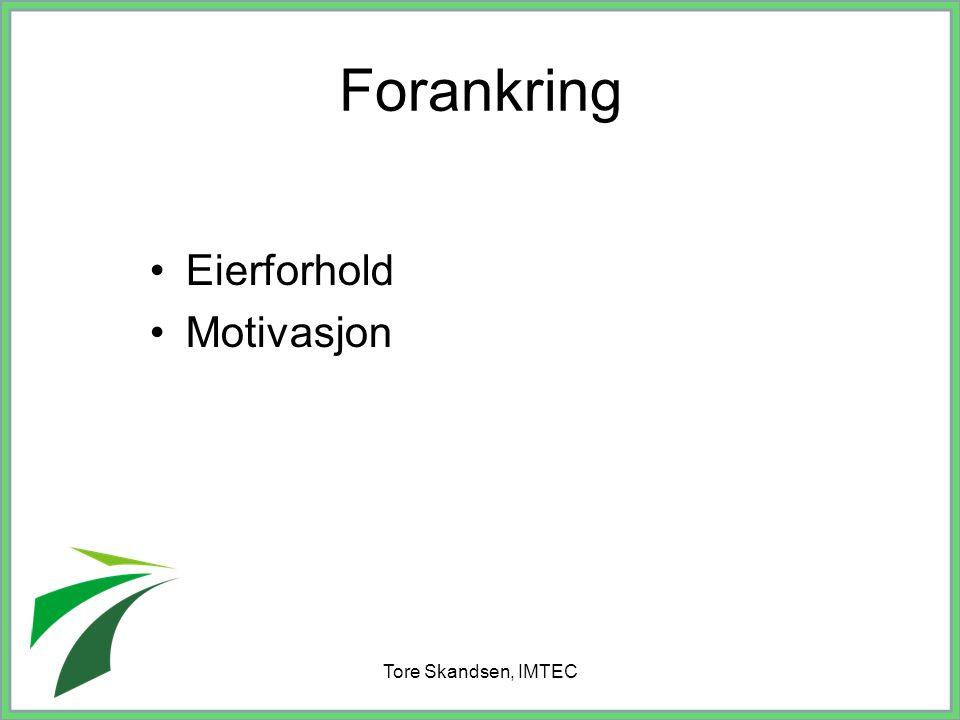 Forankring Eierforhold Motivasjon Tore Skandsen, IMTEC