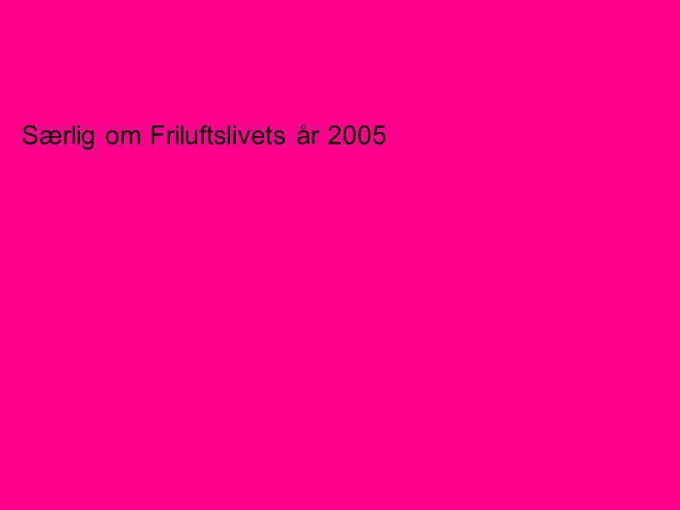 Særlig om Friluftslivets år 2005