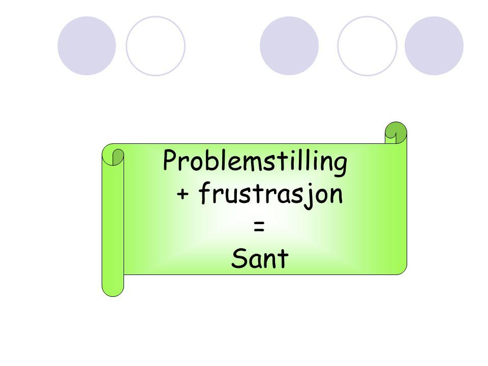 Problemstilling + frustrasjon