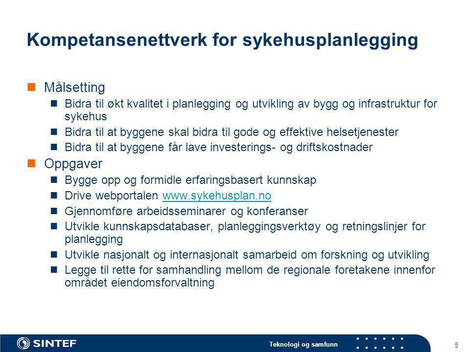 Kompetansenettverk for sykehusplanlegging