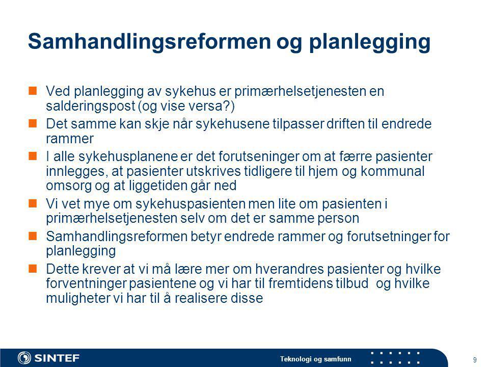 Samhandlingsreformen og planlegging