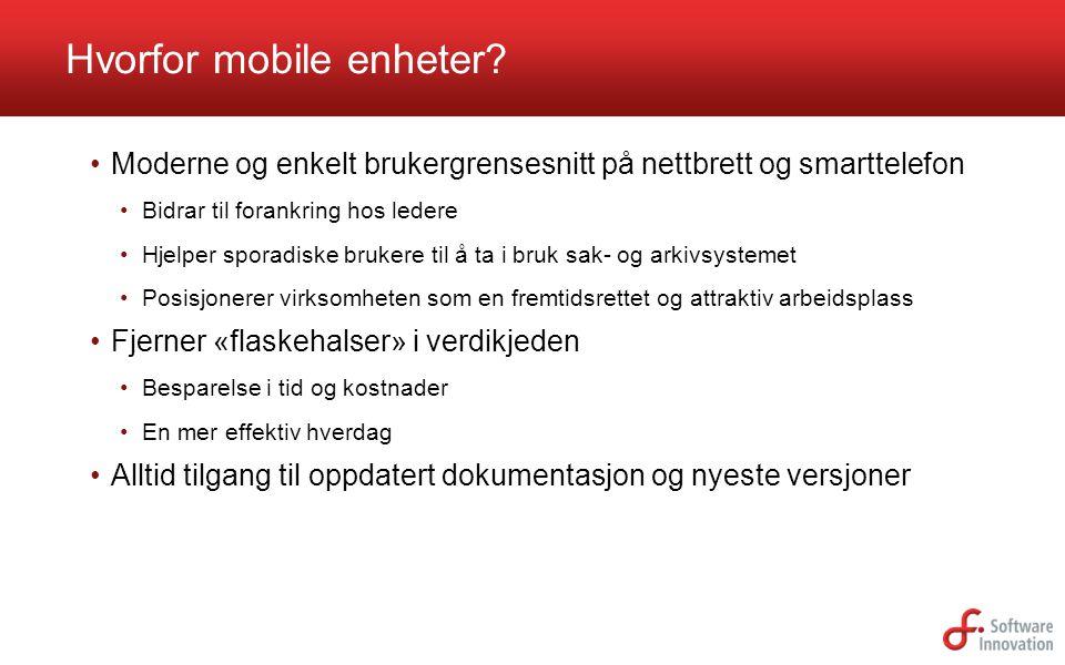 Hvorfor mobile enheter