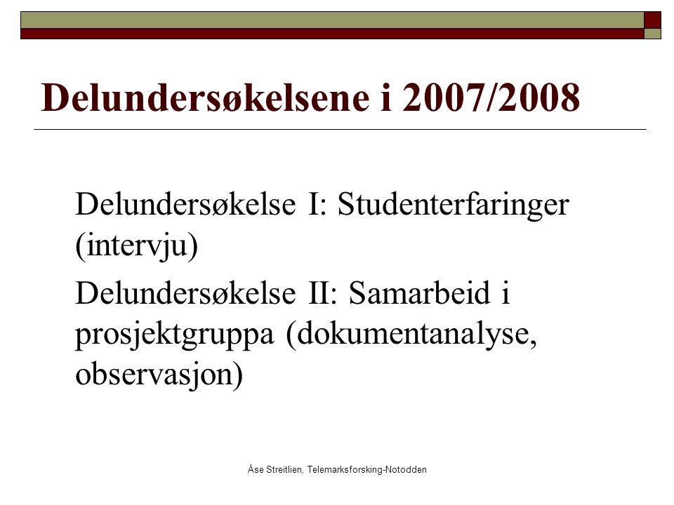 Åse Streitlien, Telemarksforsking-Notodden