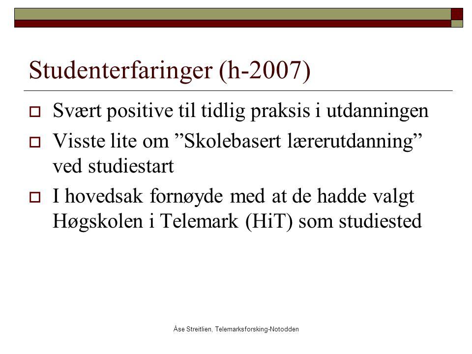 Studenterfaringer (h-2007)