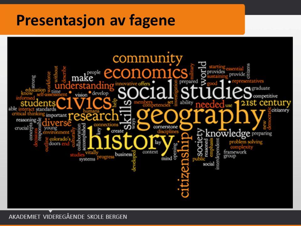 Presentasjon av fagene