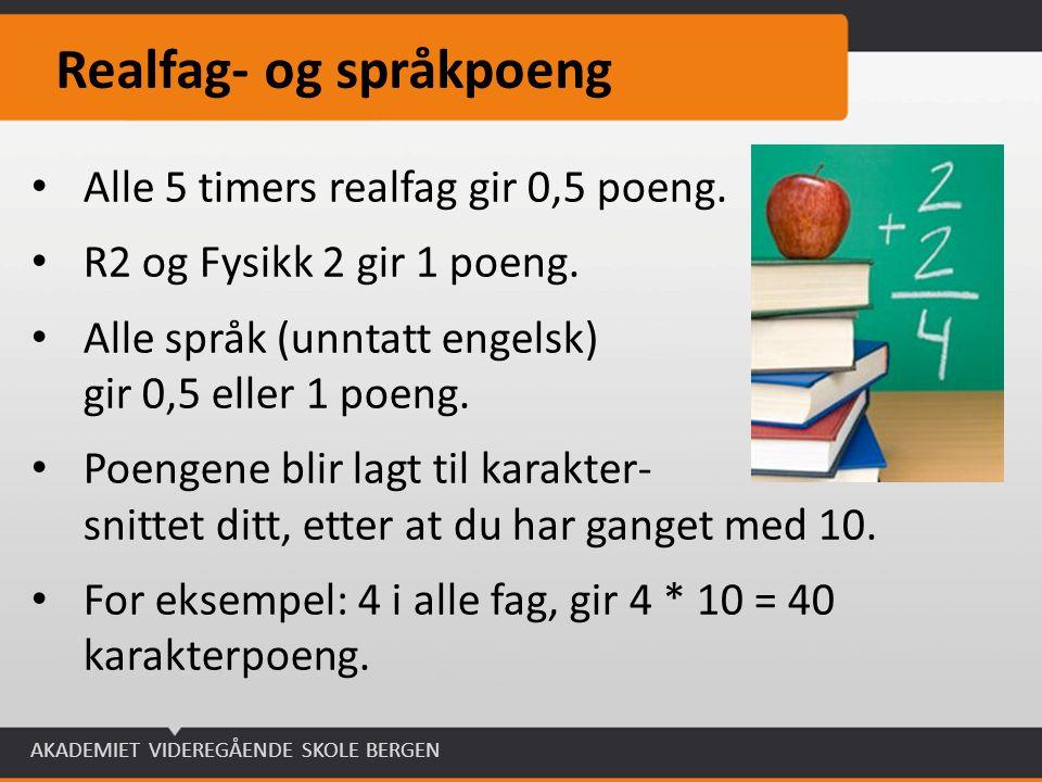 Realfag- og språkpoeng