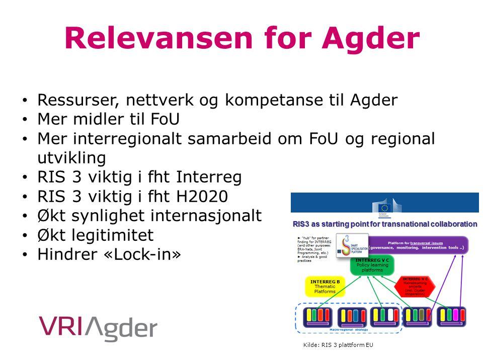 Relevansen for Agder Ressurser, nettverk og kompetanse til Agder