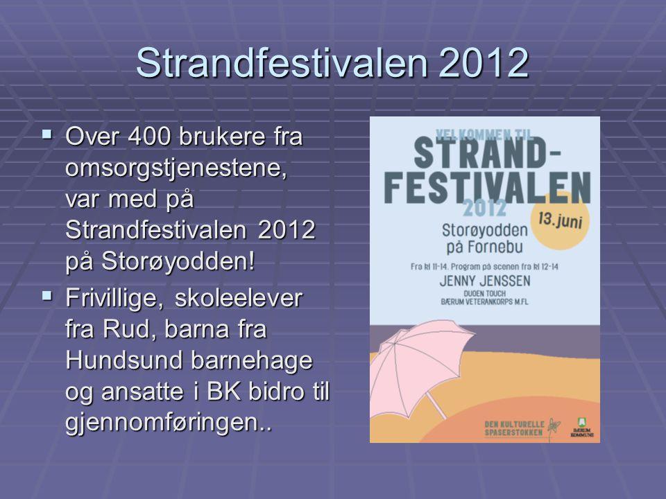 Strandfestivalen 2012 Over 400 brukere fra omsorgstjenestene, var med på Strandfestivalen 2012 på Storøyodden!