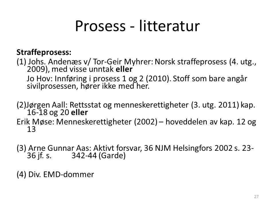 Prosess - litteratur