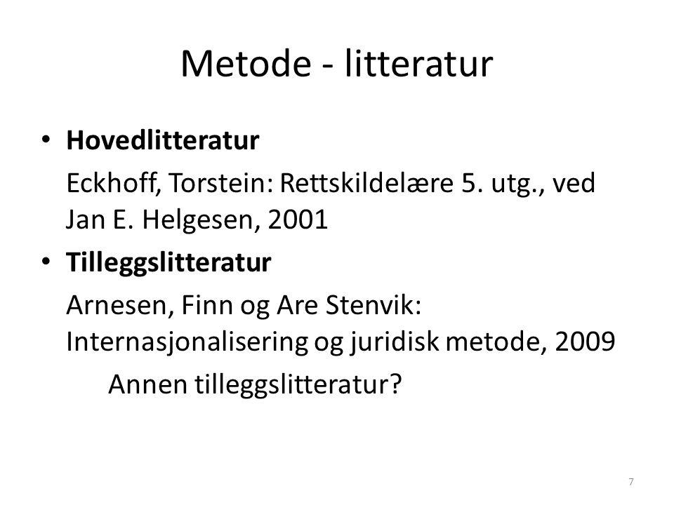 Metode - litteratur Hovedlitteratur