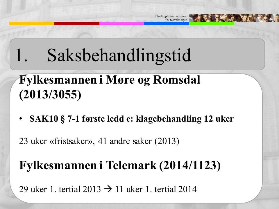 1. Saksbehandlingstid Fylkesmannen i Møre og Romsdal (2013/3055)
