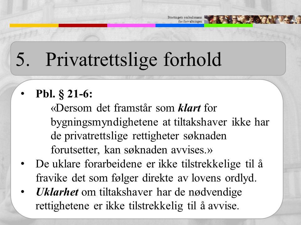 5. Privatrettslige forhold