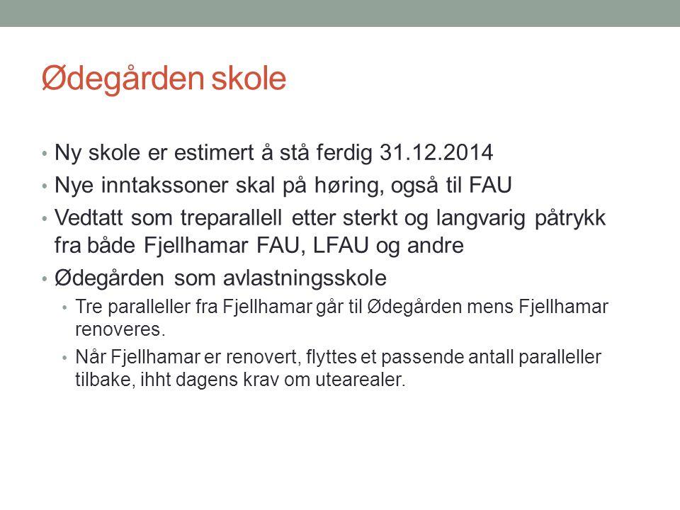 Ødegården skole Ny skole er estimert å stå ferdig 31.12.2014