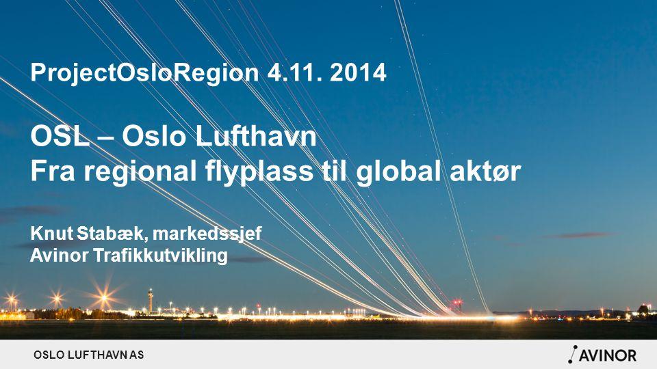 Fra regional flyplass til global aktør