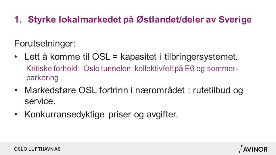 Styrke lokalmarkedet på Østlandet/deler av Sverige