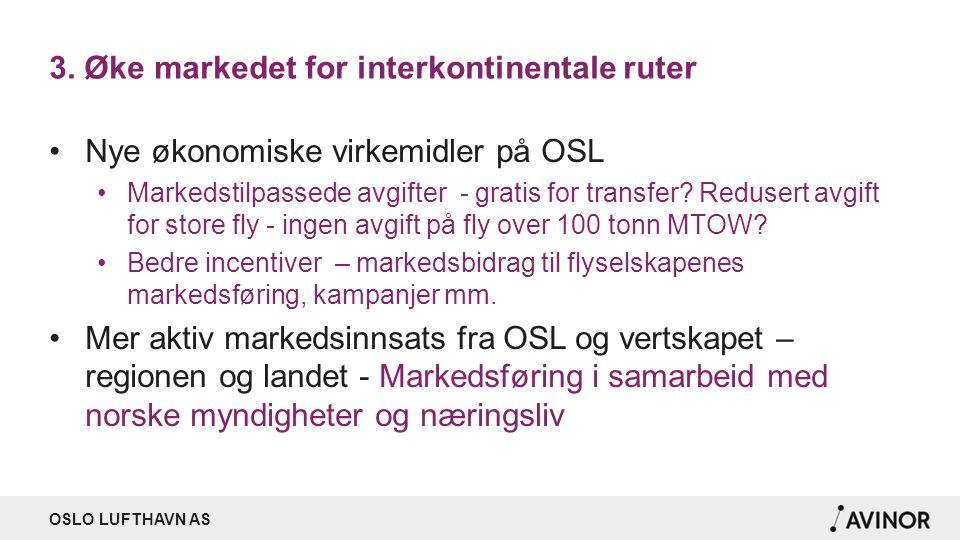 3. Øke markedet for interkontinentale ruter