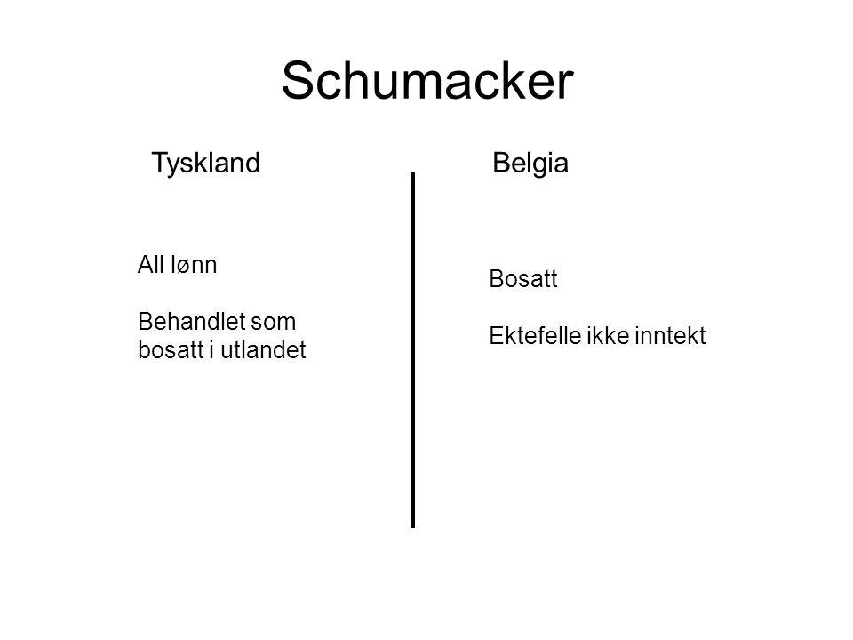 Schumacker Tyskland Belgia All lønn Behandlet som bosatt i utlandet
