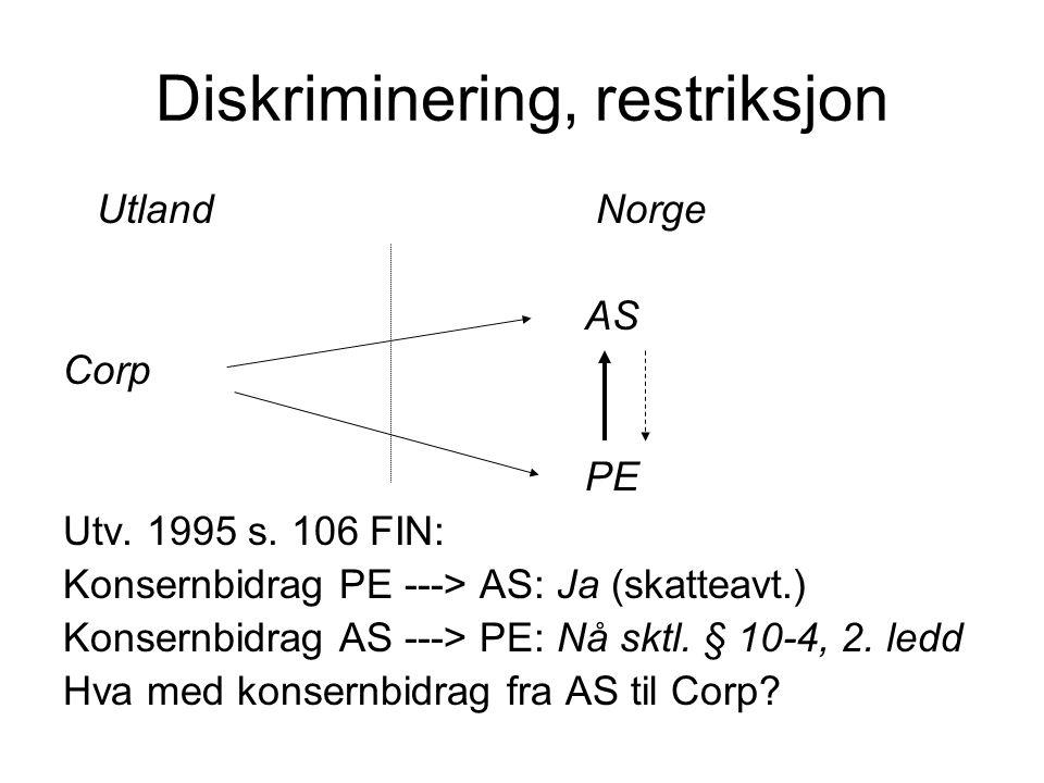 Diskriminering, restriksjon