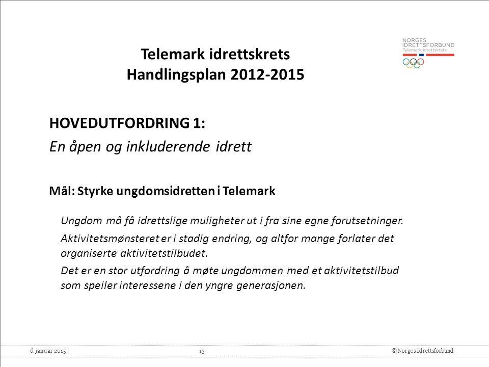 Telemark idrettskrets Handlingsplan 2012-2015