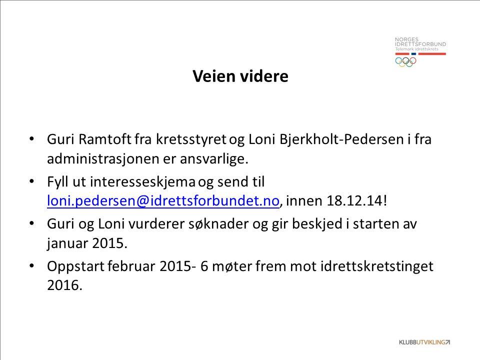 Veien videre Guri Ramtoft fra kretsstyret og Loni Bjerkholt-Pedersen i fra administrasjonen er ansvarlige.