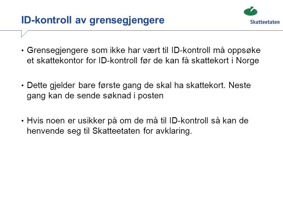 ID-kontroll av grensegjengere