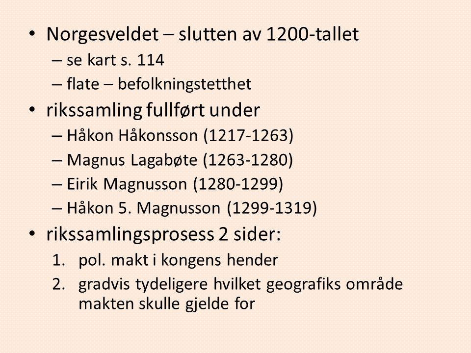 Norgesveldet – slutten av 1200-tallet