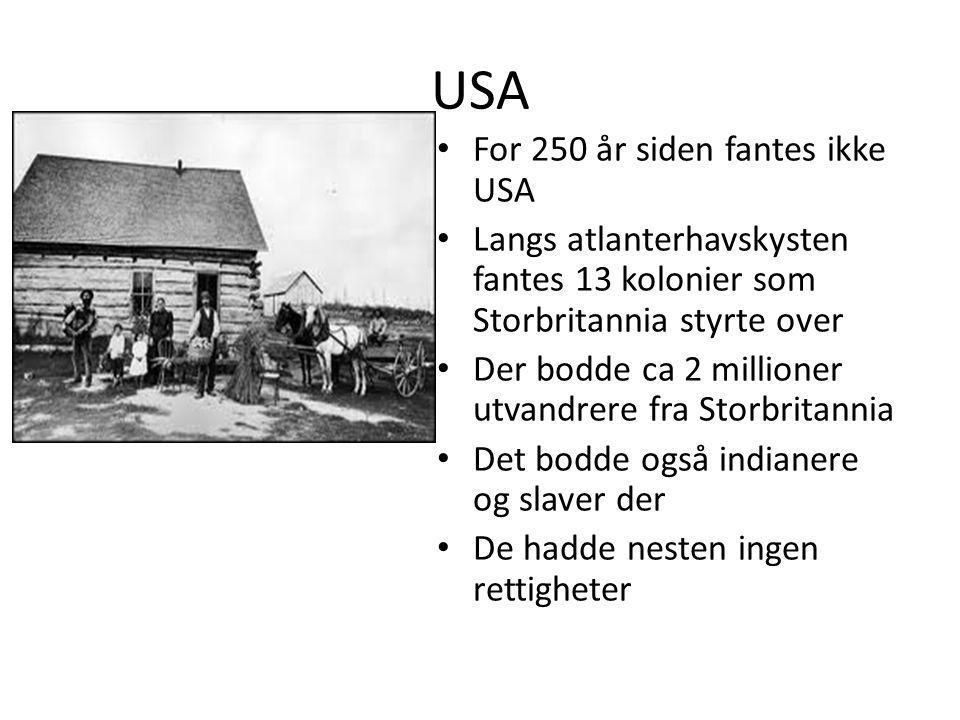 USA For 250 år siden fantes ikke USA
