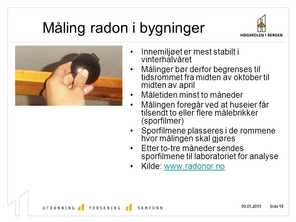 Måling radon i bygninger