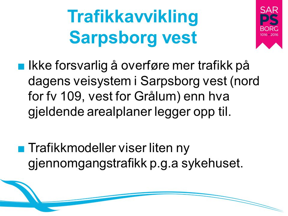 Trafikkavvikling Sarpsborg vest