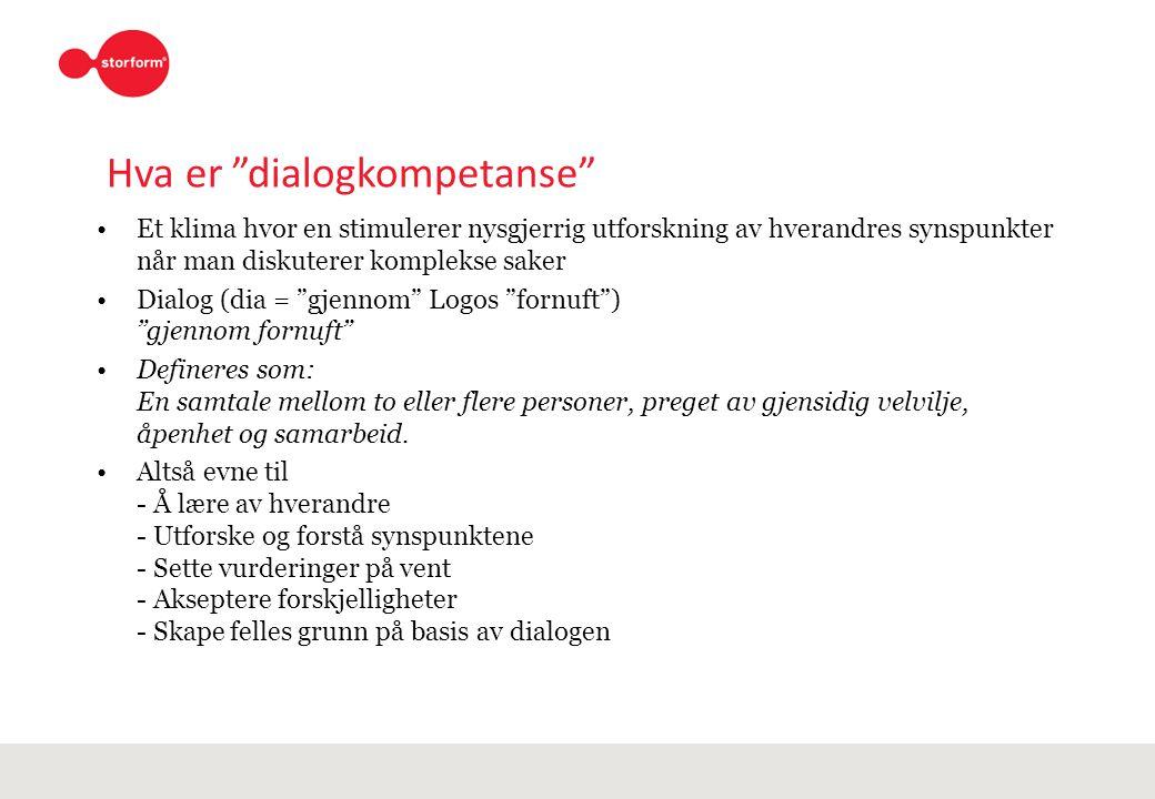 Hva er dialogkompetanse