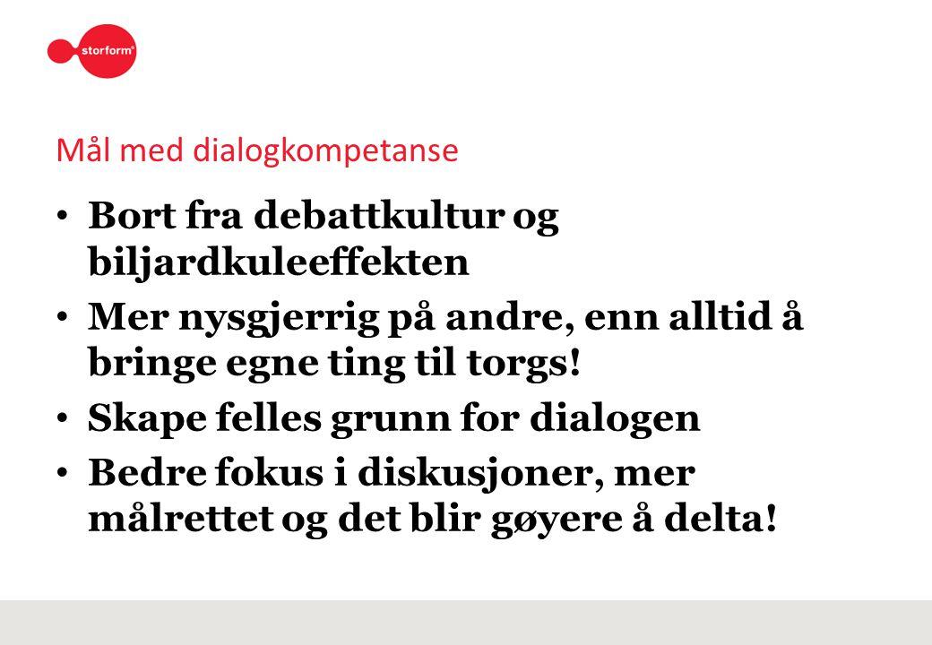 Mål med dialogkompetanse