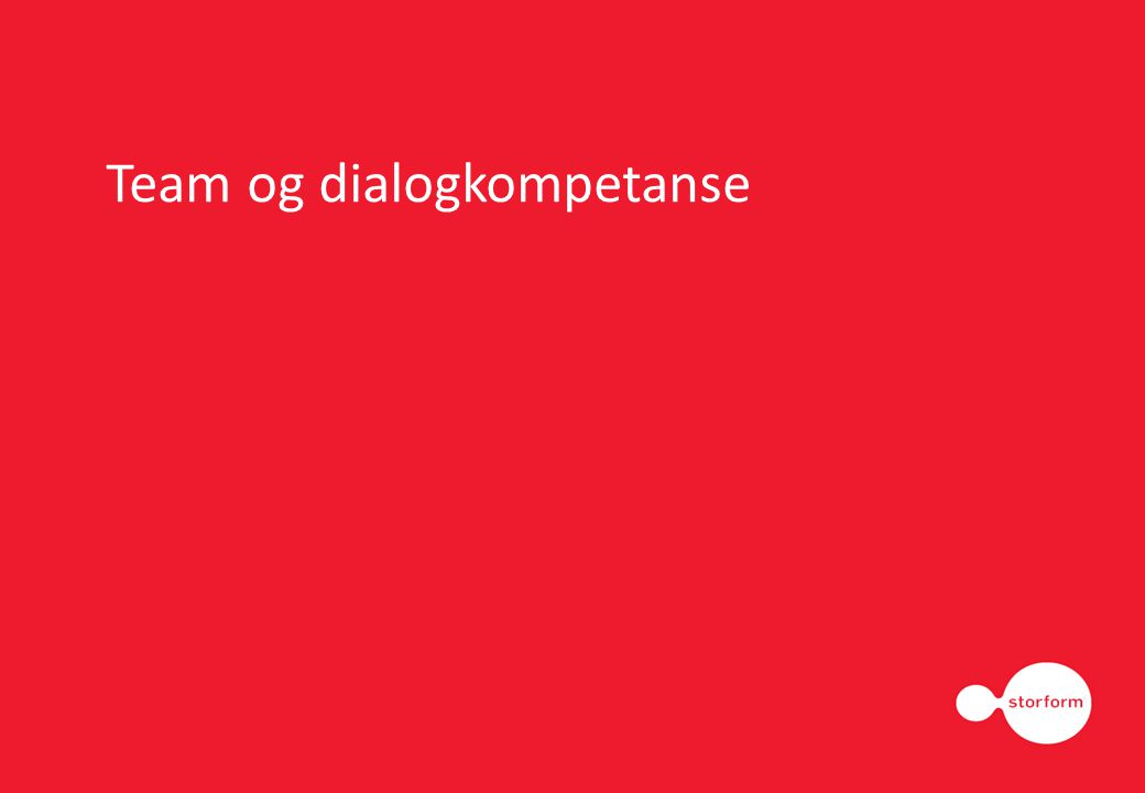Team og dialogkompetanse