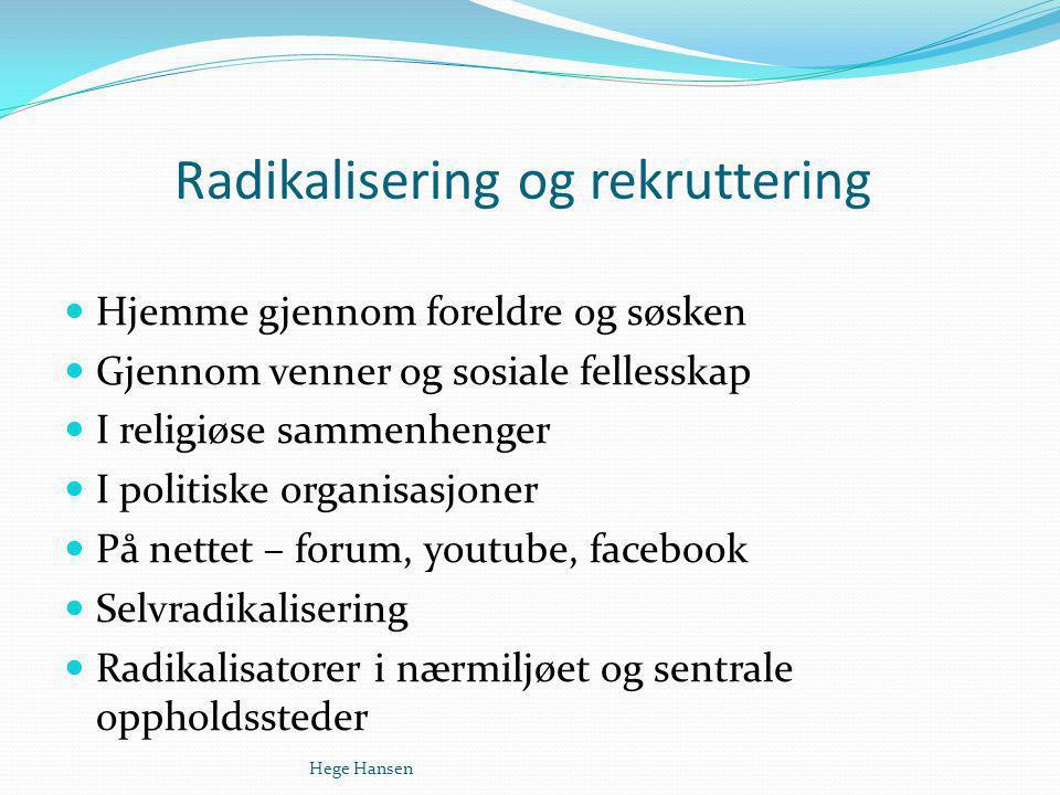 Radikalisering og rekruttering
