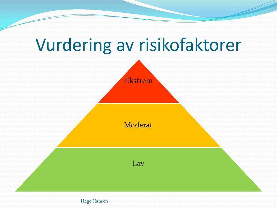 Vurdering av risikofaktorer