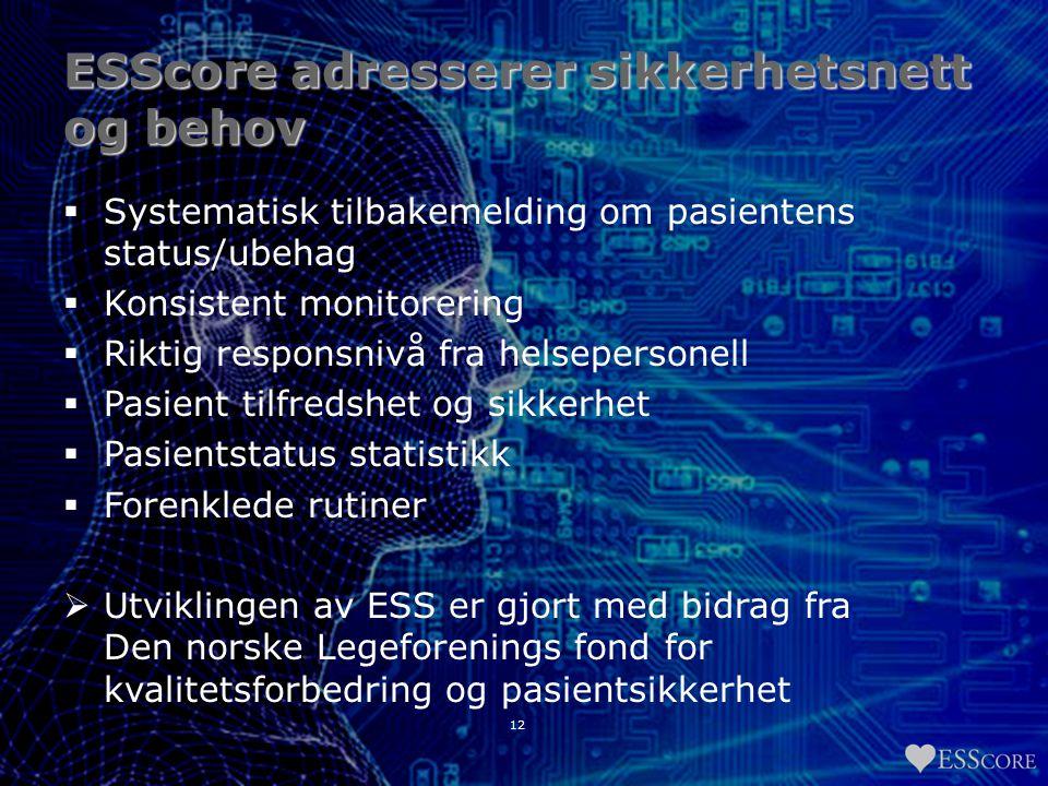 ESScore adresserer sikkerhetsnett og behov