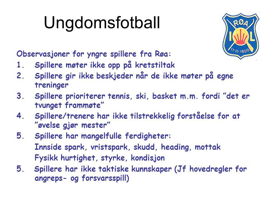 Ungdomsfotball Observasjoner for yngre spillere fra Røa:
