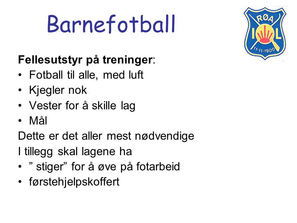 Barnefotball Fellesutstyr på treninger: Fotball til alle, med luft