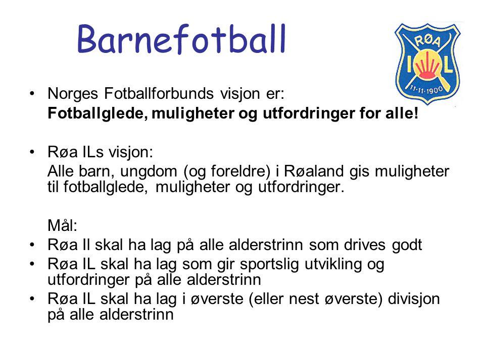 Barnefotball Norges Fotballforbunds visjon er: