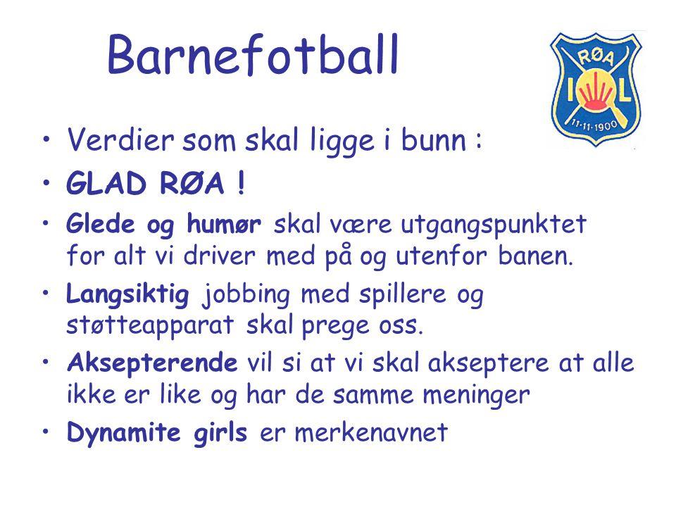 Barnefotball Verdier som skal ligge i bunn : GLAD RØA !