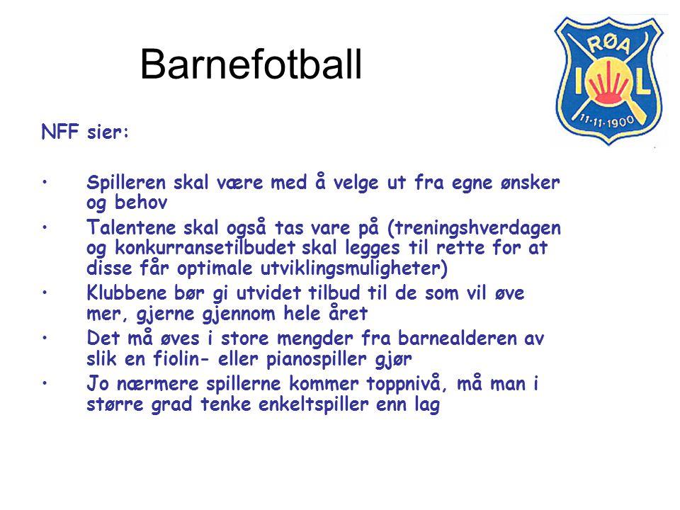 Barnefotball NFF sier:
