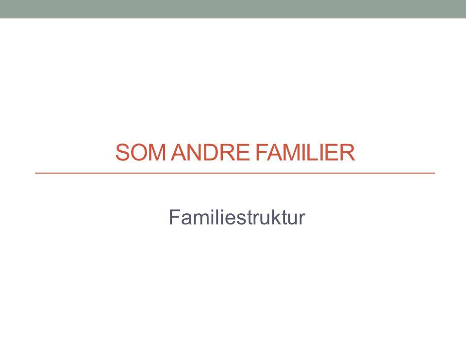 Som andre familier Familiestruktur