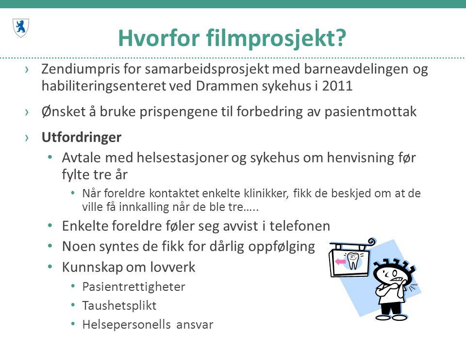 Hvorfor filmprosjekt Zendiumpris for samarbeidsprosjekt med barneavdelingen og habiliteringsenteret ved Drammen sykehus i 2011.