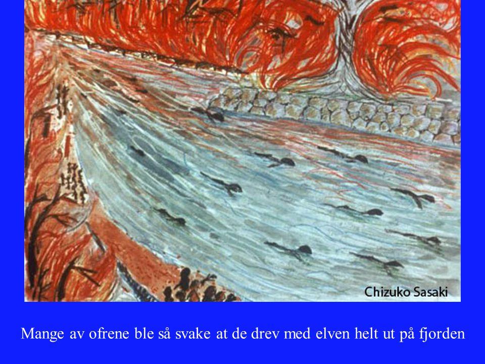 Mange av ofrene ble så svake at de drev med elven helt ut på fjorden
