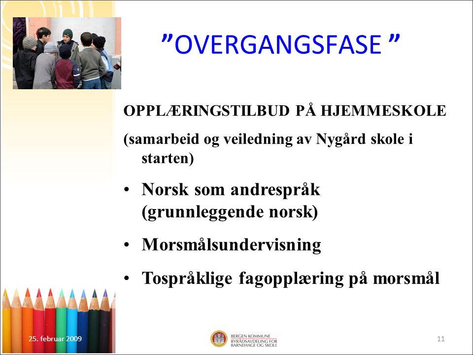 OVERGANGSFASE Norsk som andrespråk (grunnleggende norsk)