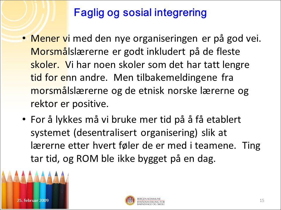 Faglig og sosial integrering