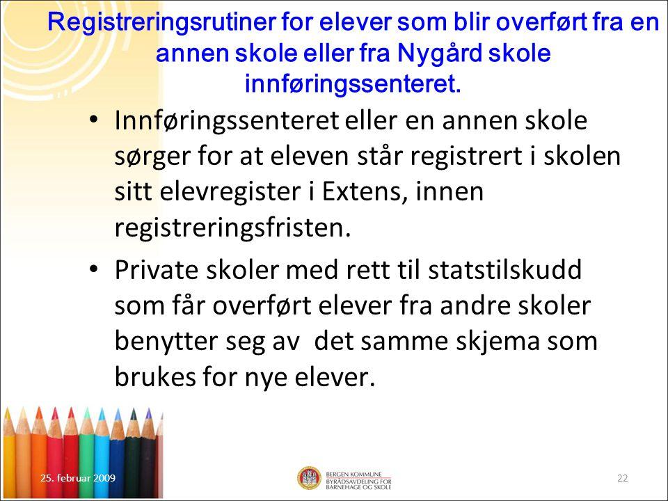 Registreringsrutiner for elever som blir overført fra en annen skole eller fra Nygård skole innføringssenteret.