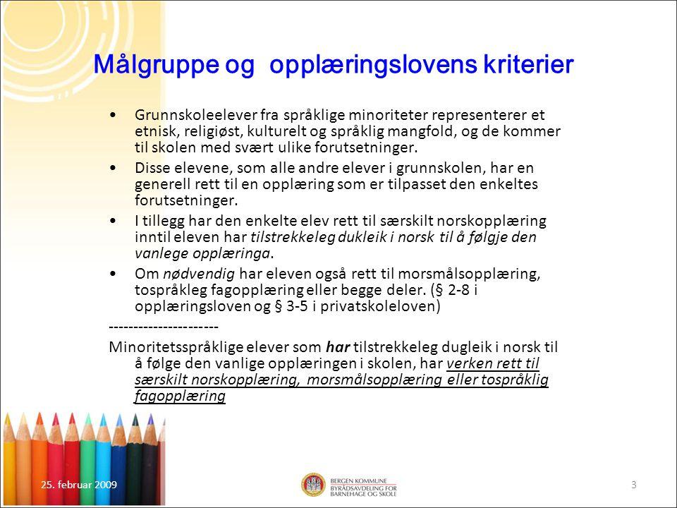 Målgruppe og opplæringslovens kriterier